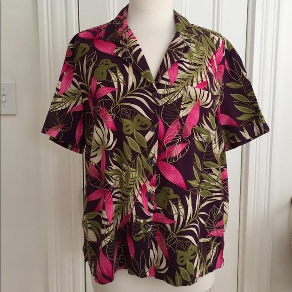 c1e9c8293 Erika Tops | Hawaiian Shirt Short Sleeve Pocket Hipster L | Poshmark